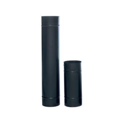 Şömine Sobalara Uygun 70 cm (13 cm Ø ) Siyah Mat Emaye Standart Soba Borusu