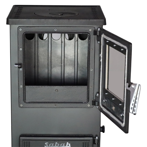 Sabah S102D Mini Dik Döküm Şömine Soba